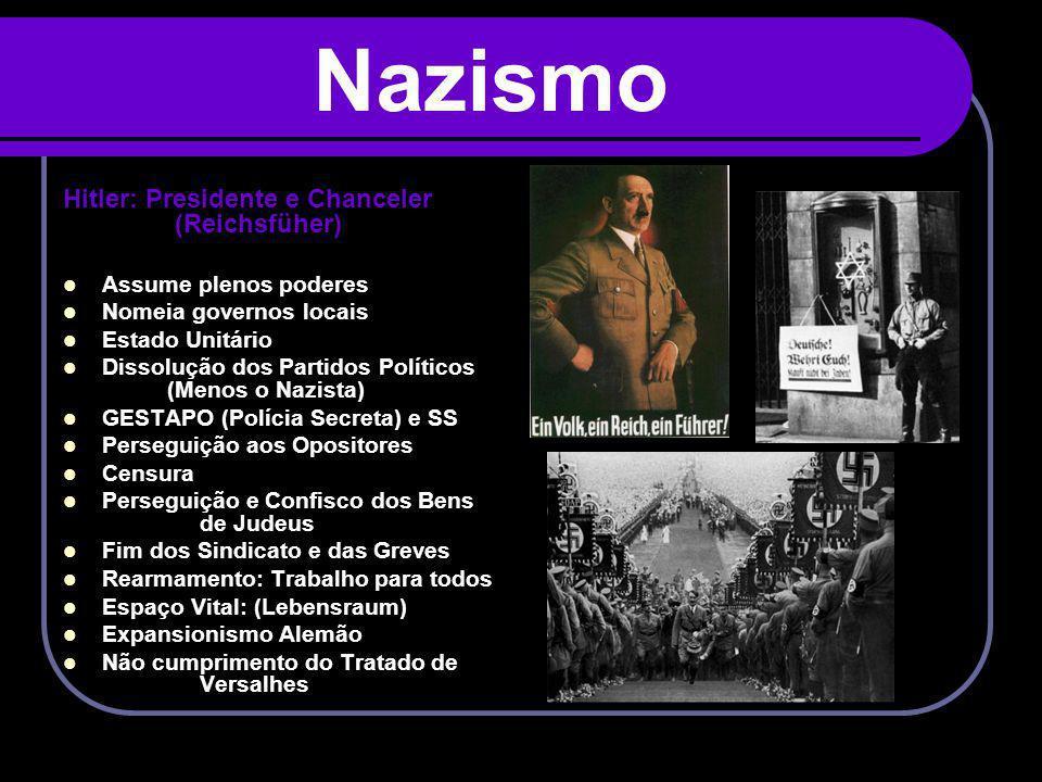 Nazismo Hitler: Presidente e Chanceler (Reichsfüher)