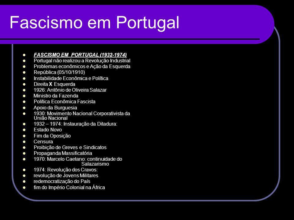 Fascismo em Portugal FASCISMO EM PORTUGAL (1932-1974)