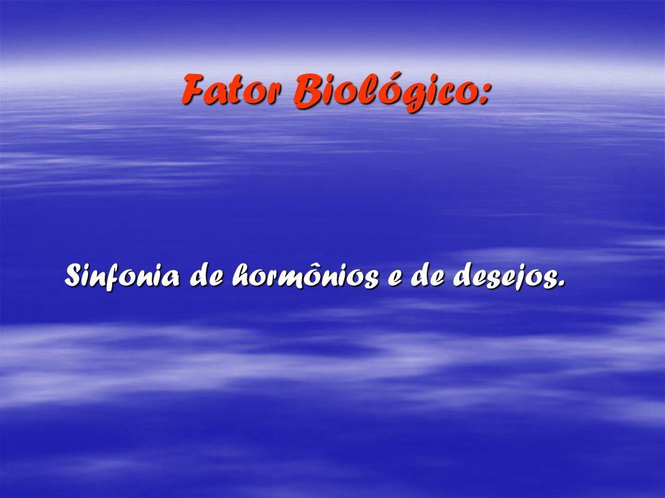 Fator Biológico: Sinfonia de hormônios e de desejos.
