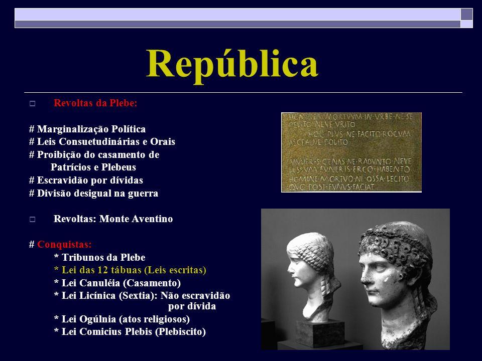 República Revoltas da Plebe: # Marginalização Política