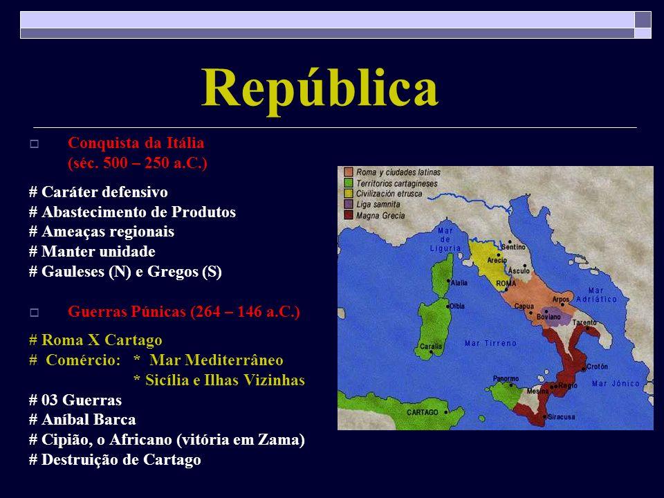 República Conquista da Itália (séc. 500 – 250 a.C.)