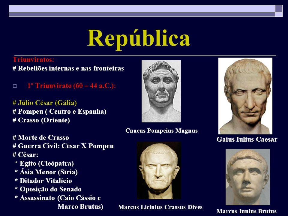 República Triunviratos: # Rebeliões internas e nas fronteiras