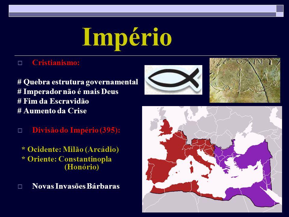 Império Cristianismo: # Quebra estrutura governamental