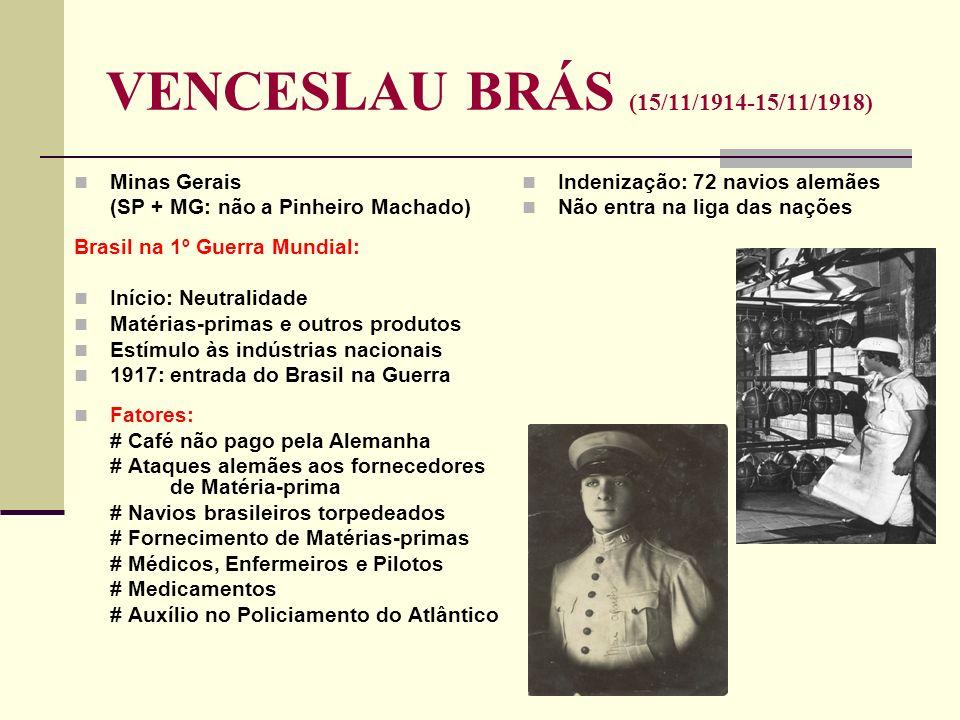 VENCESLAU BRÁS (15/11/1914-15/11/1918)