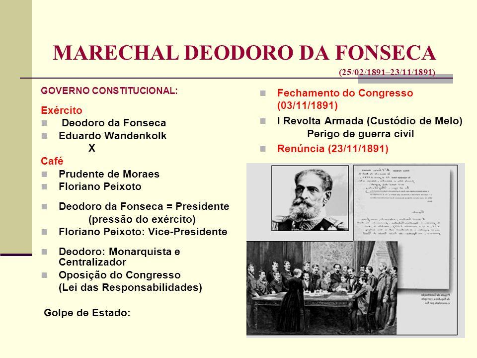 MARECHAL DEODORO DA FONSECA (25/02/1891–23/11/1891)