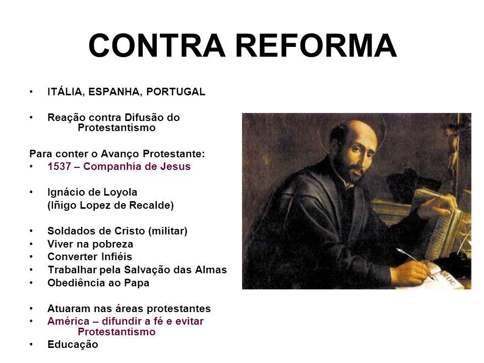 CONTRA REFORMA ITÁLIA, ESPANHA, PORTUGAL