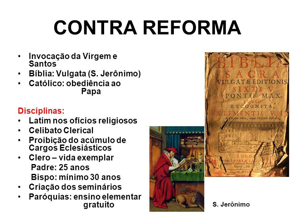 CONTRA REFORMA Invocação da Virgem e Santos