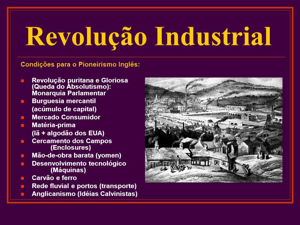 Revolução Industrial Condições para o Pioneirismo Inglês: