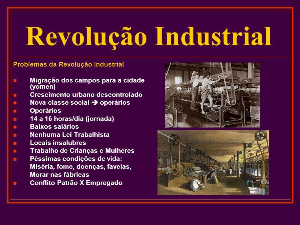 Revolução Industrial Problemas da Revolução Industrial