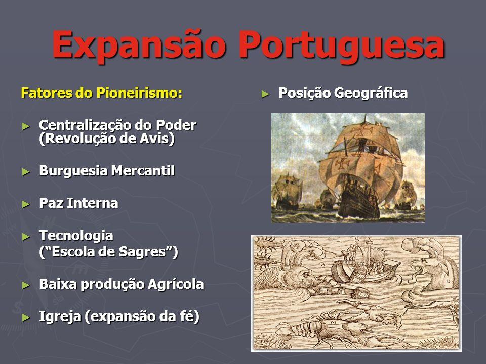 Expansão Portuguesa Fatores do Pioneirismo: