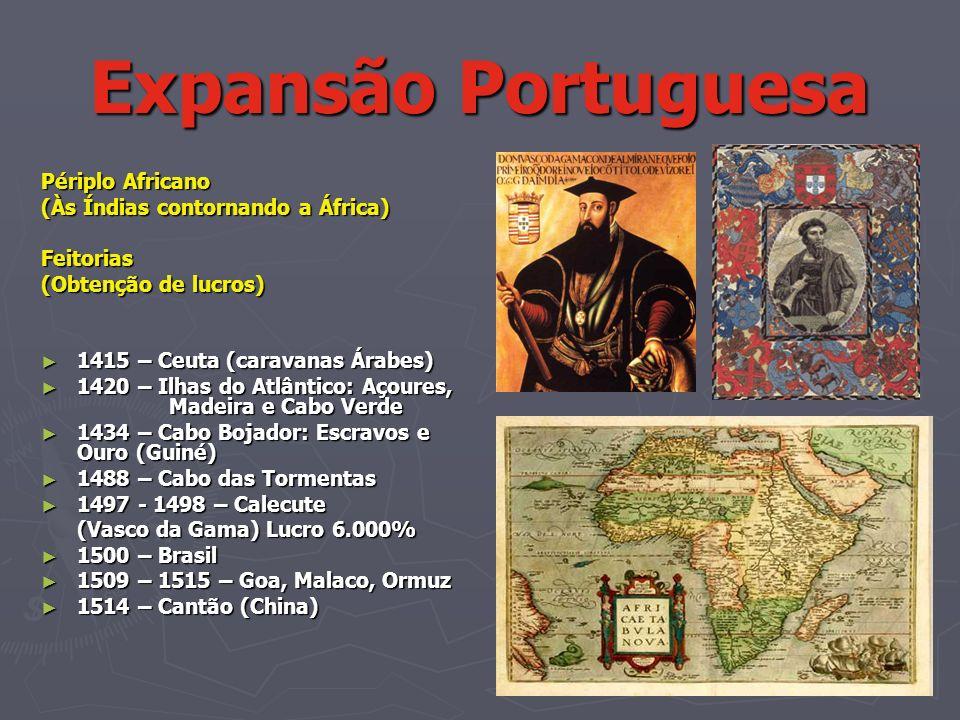 Expansão Portuguesa Périplo Africano (Às Índias contornando a África)