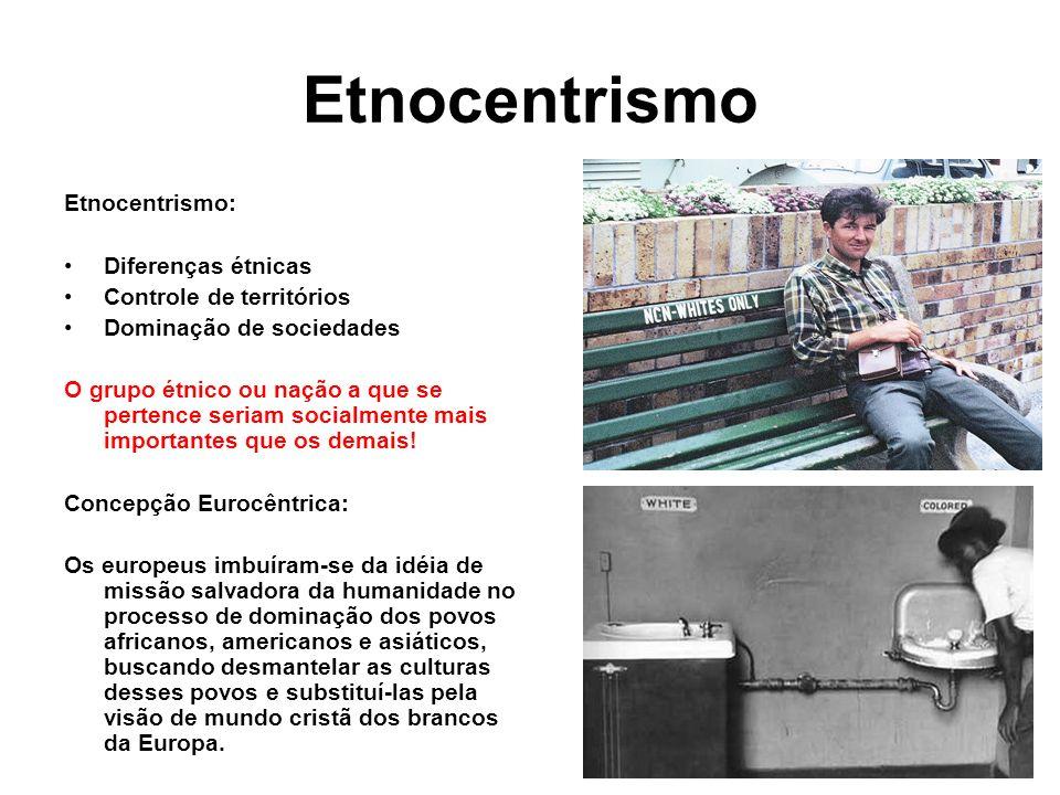 Etnocentrismo Etnocentrismo: Diferenças étnicas
