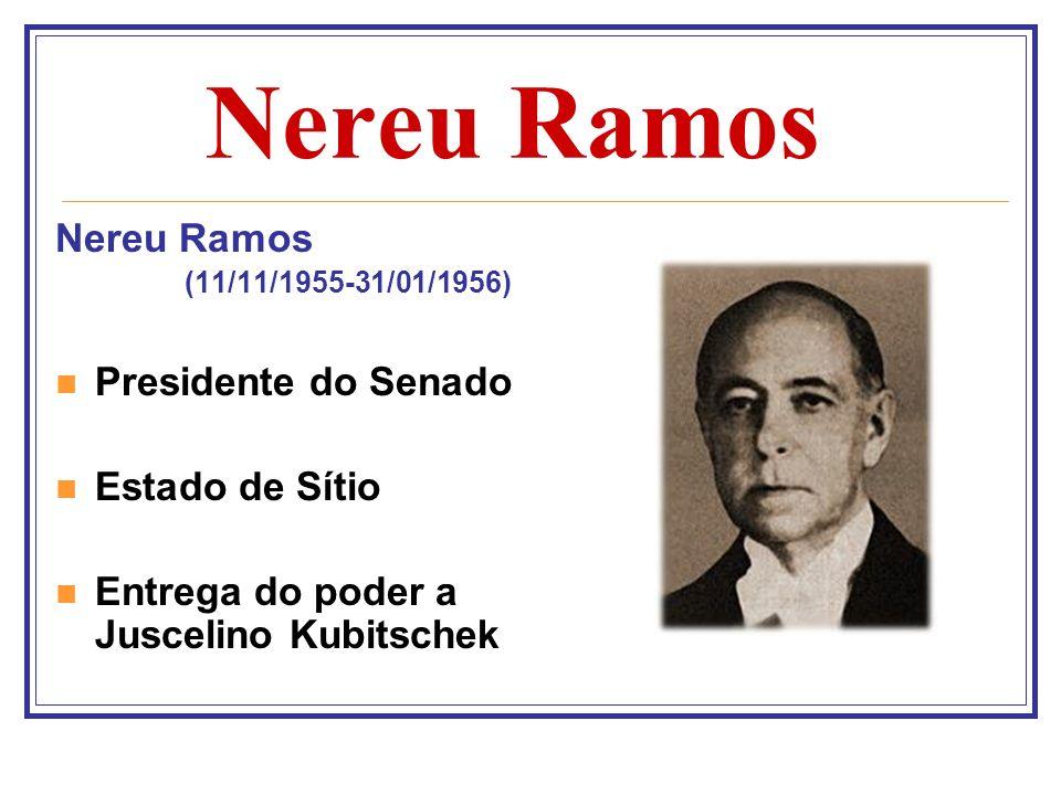Nereu Ramos Nereu Ramos Presidente do Senado Estado de Sítio