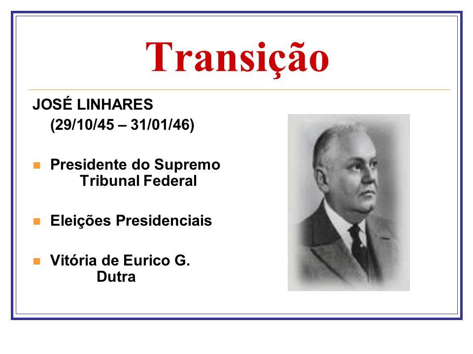Transição JOSÉ LINHARES (29/10/45 – 31/01/46)