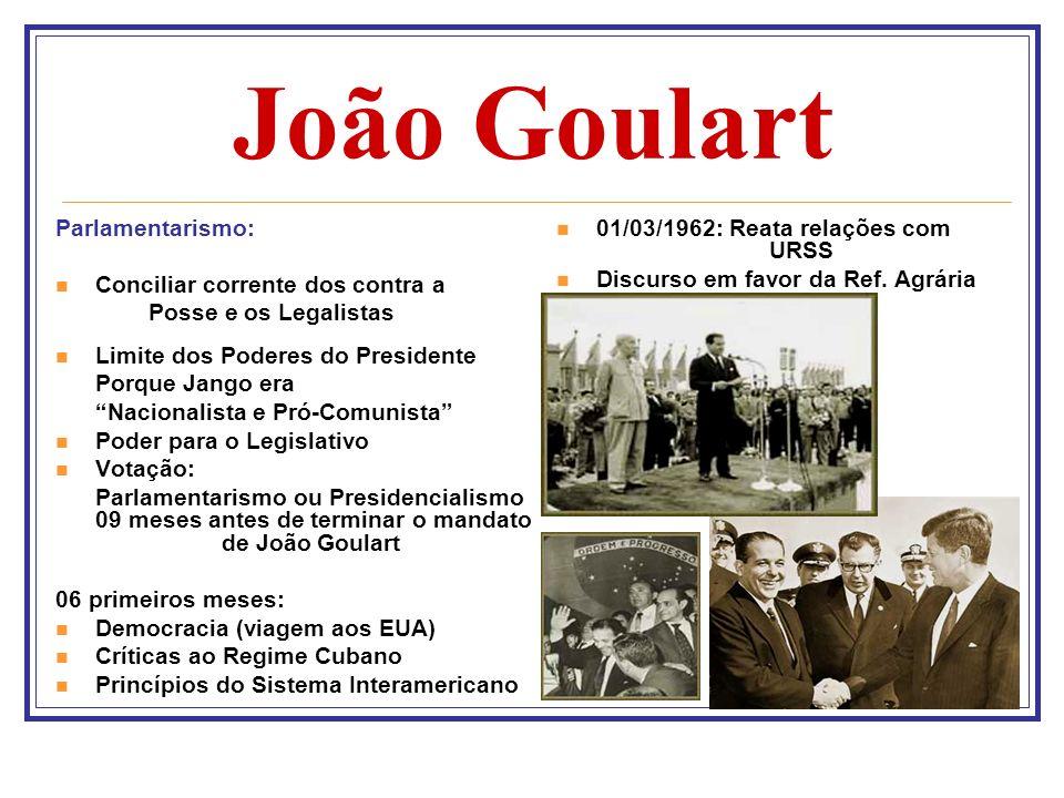 João Goulart Parlamentarismo: Conciliar corrente dos contra a