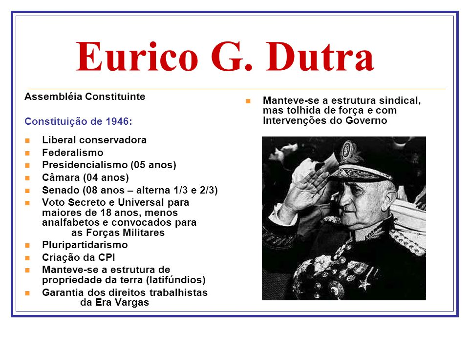 Eurico G. Dutra Assembléia Constituinte