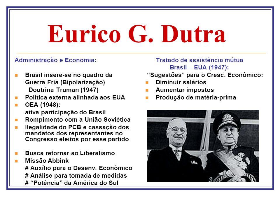 Eurico G. Dutra Administração e Economia: