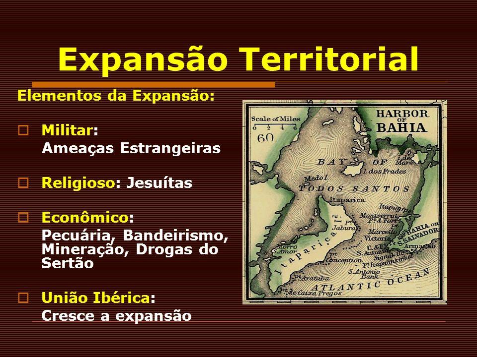 Expansão Territorial Elementos da Expansão: Militar: