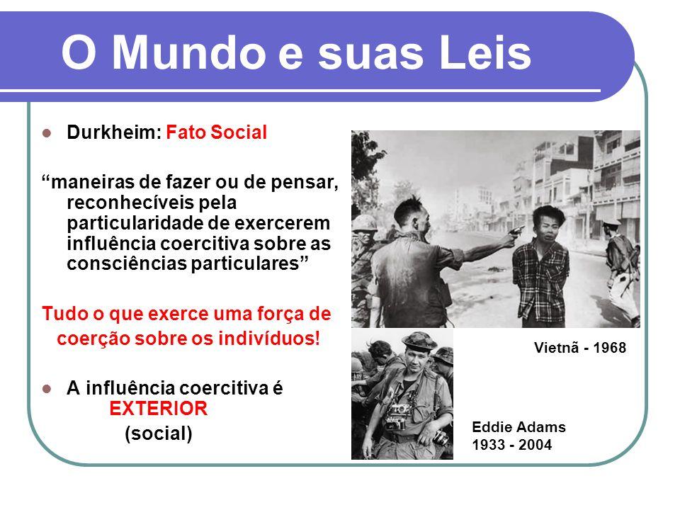O Mundo e suas Leis Durkheim: Fato Social
