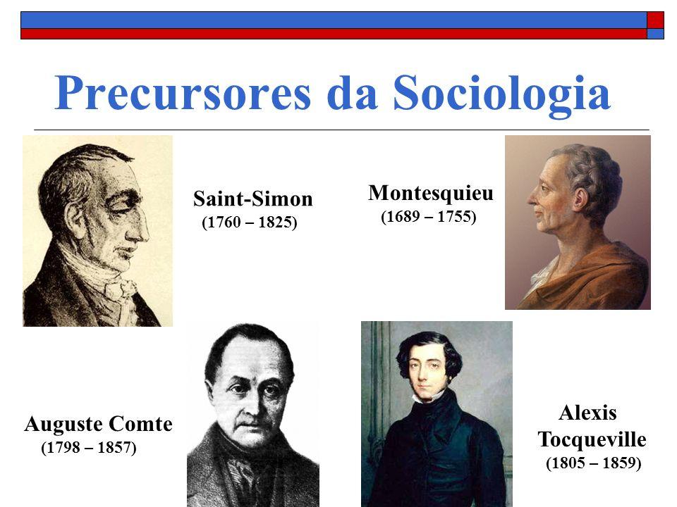 Precursores da Sociologia
