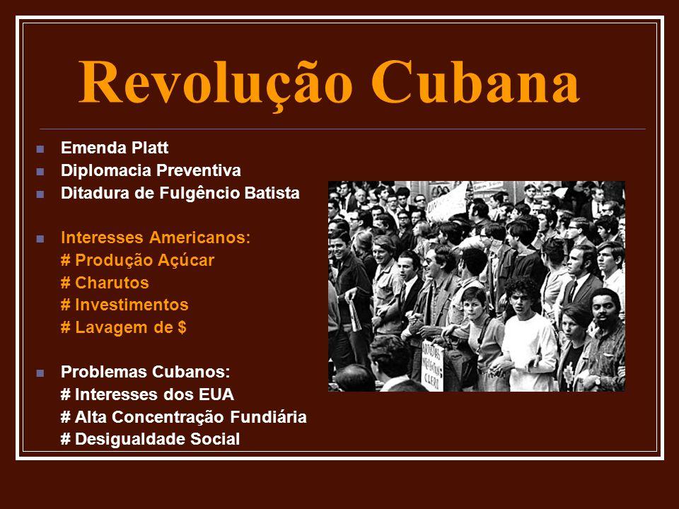 Revolução Cubana Emenda Platt Diplomacia Preventiva