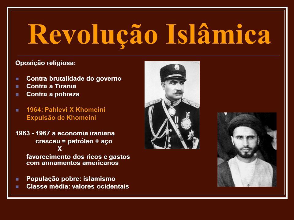 Revolução Islâmica Oposição religiosa: Contra brutalidade do governo