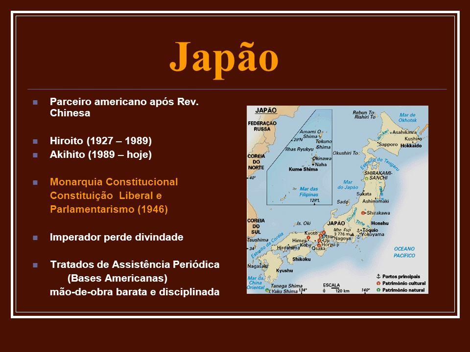 Japão Parceiro americano após Rev. Chinesa Hiroito (1927 – 1989)