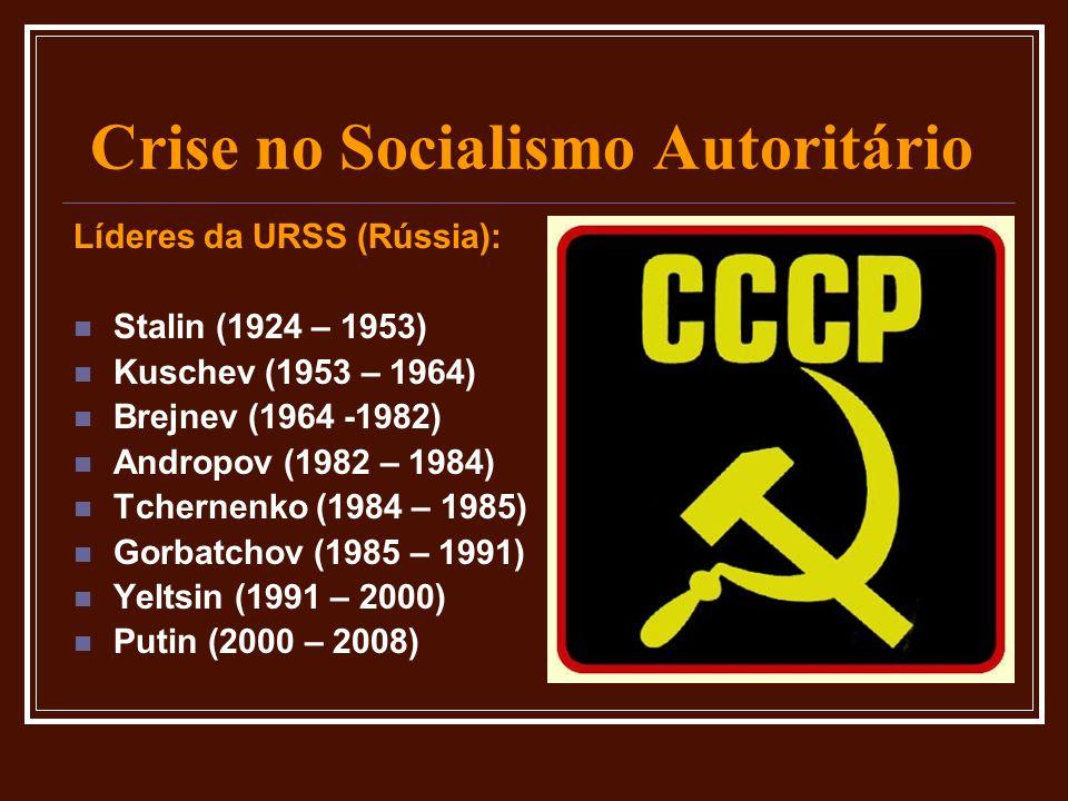 Crise no Socialismo Autoritário