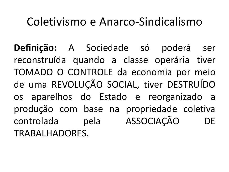 Coletivismo e Anarco-Sindicalismo