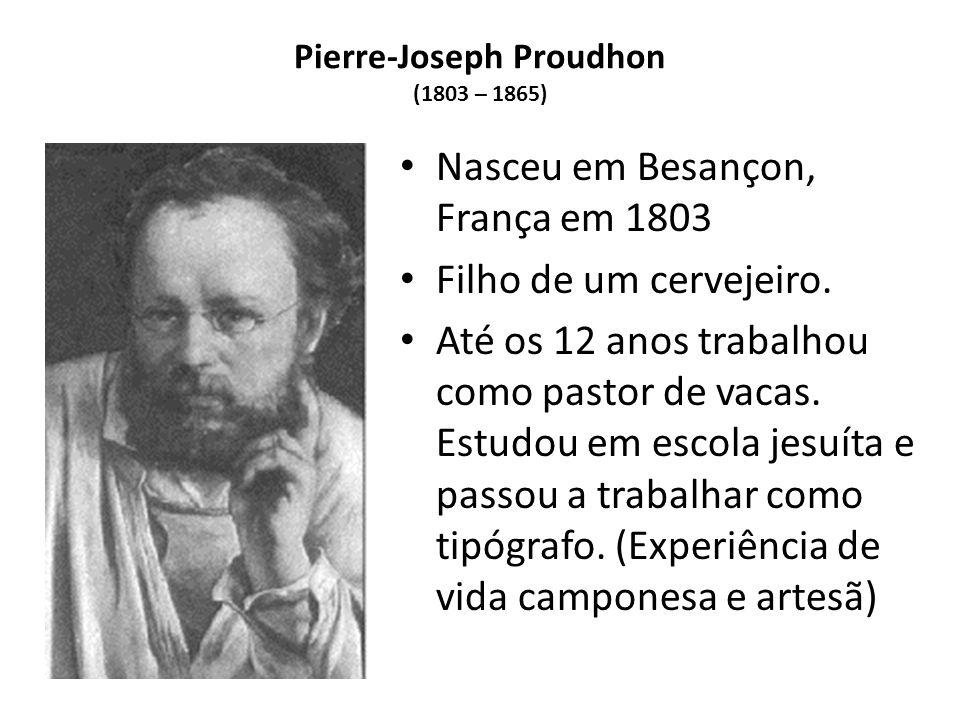 Pierre-Joseph Proudhon (1803 – 1865)