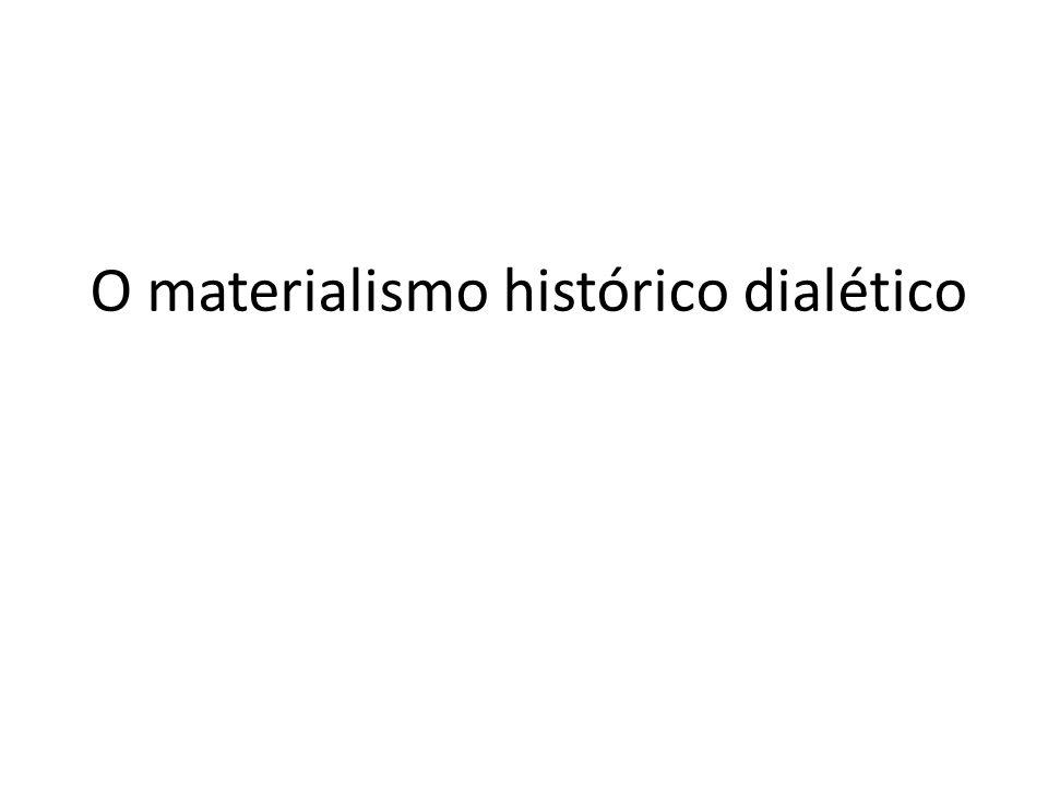 O materialismo histórico dialético