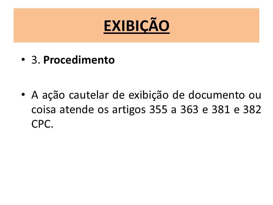 EXIBIÇÃO 3. Procedimento