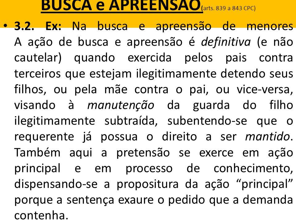 BUSCA e APREENSÃO(arts. 839 a 843 CPC)