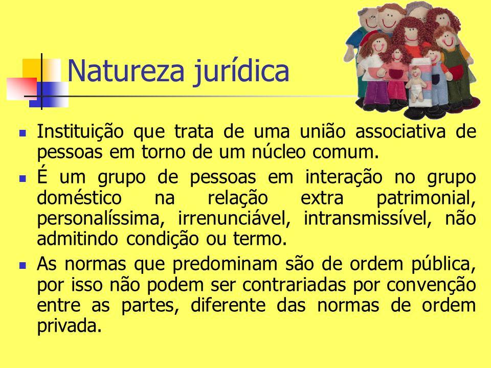 Natureza jurídica Instituição que trata de uma união associativa de pessoas em torno de um núcleo comum.