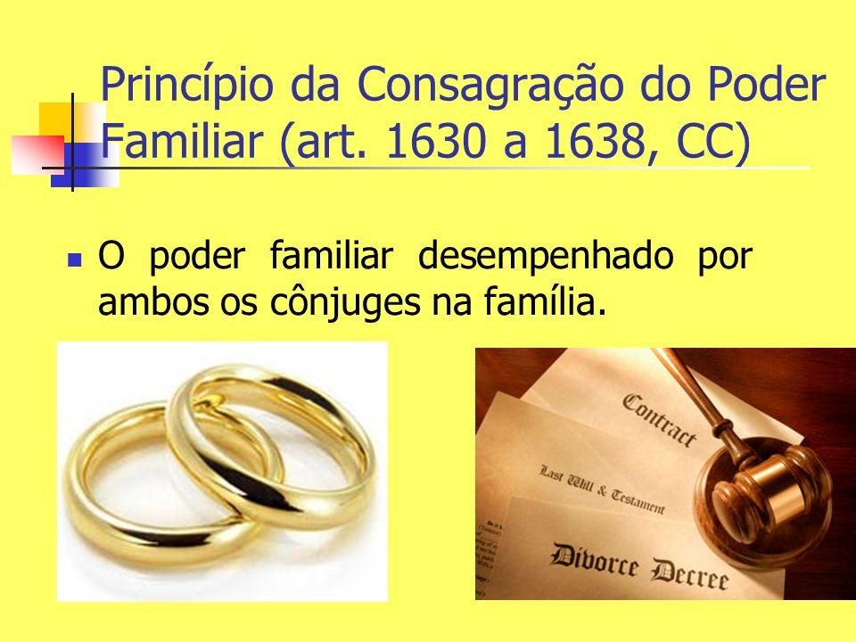 Princípio da Consagração do Poder Familiar (art. 1630 a 1638, CC)