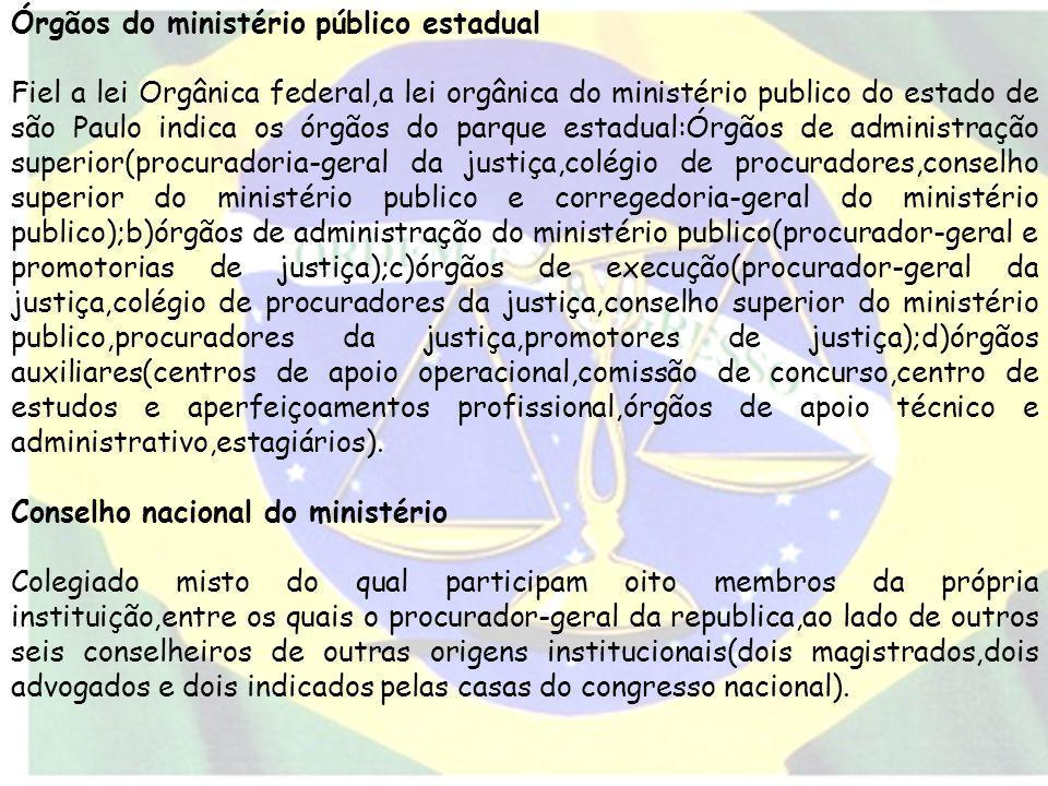 Órgãos do ministério público estadual