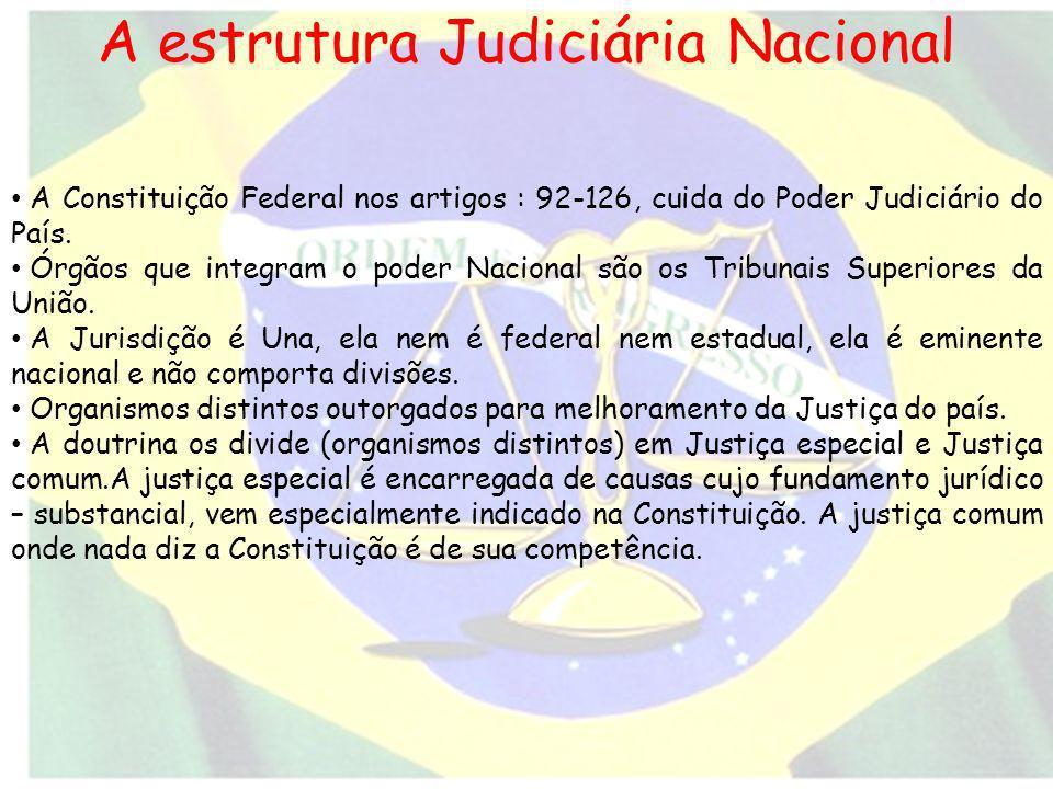 A estrutura Judiciária Nacional