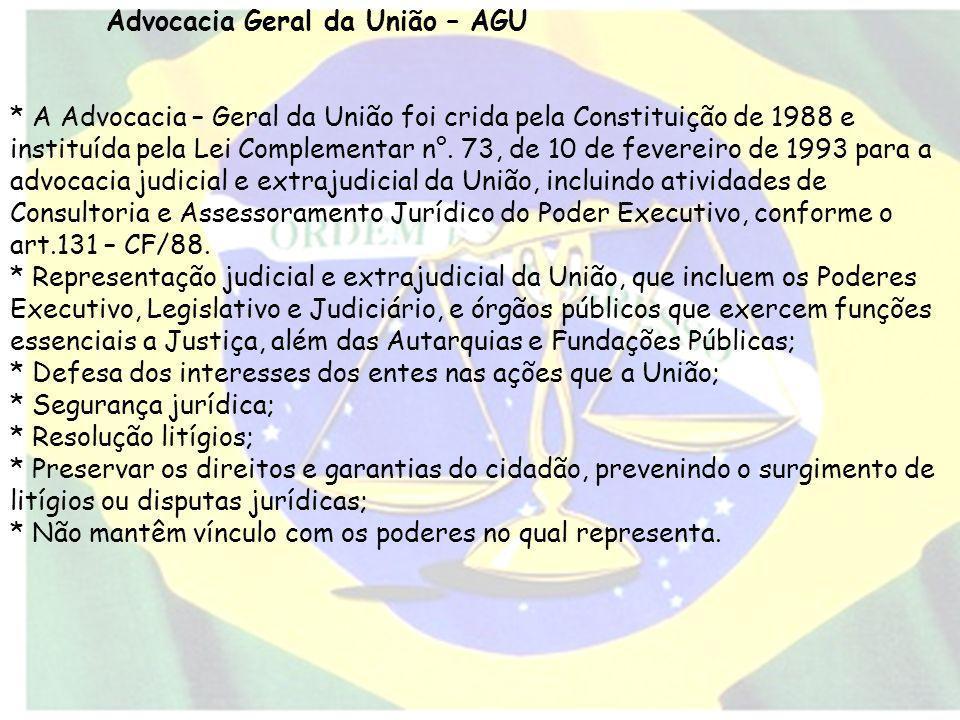 Advocacia Geral da União – AGU