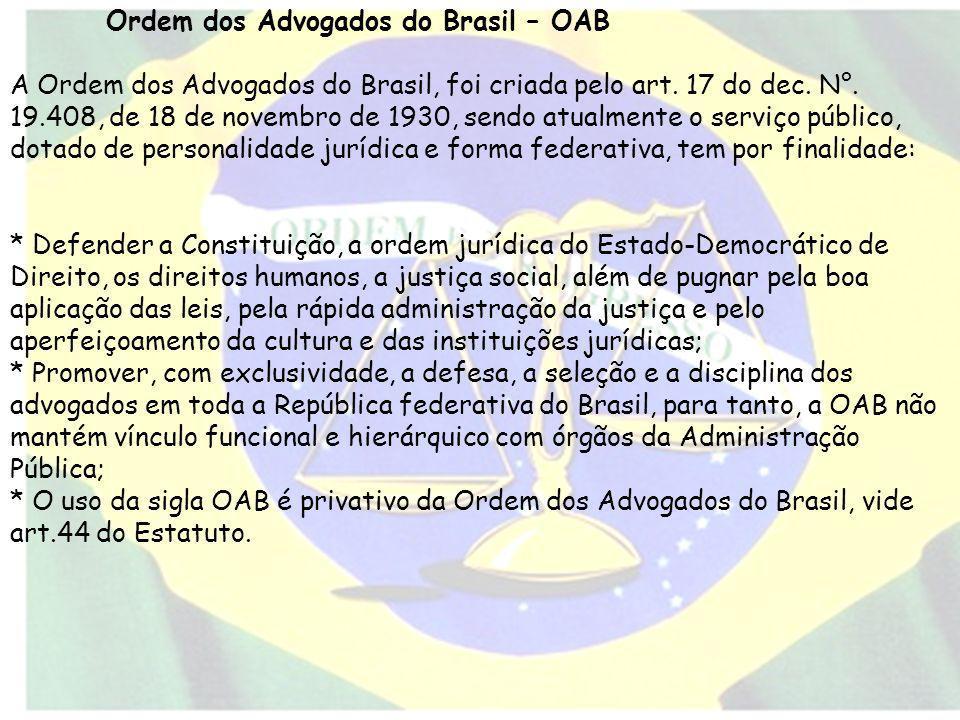 Ordem dos Advogados do Brasil – OAB