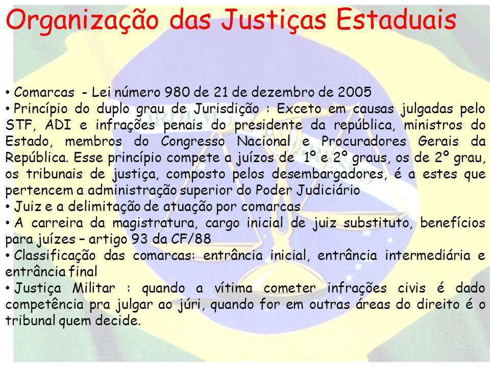 Organização das Justiças Estaduais