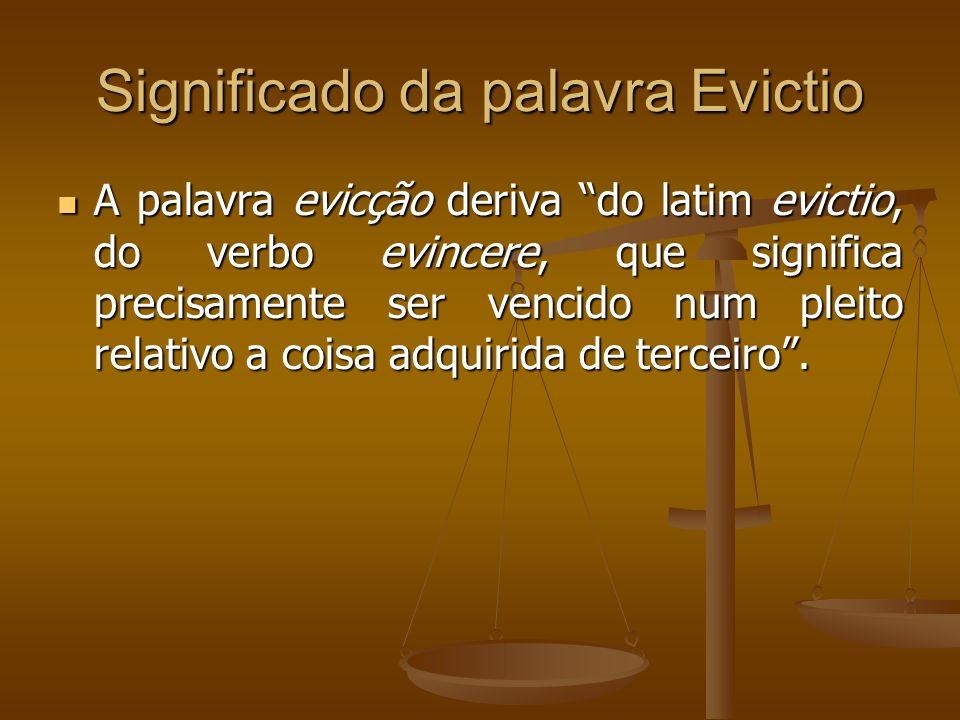 Significado da palavra Evictio