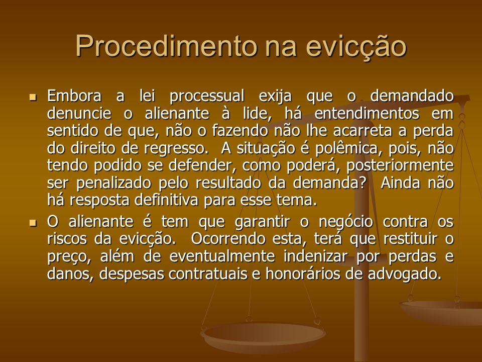 Procedimento na evicção