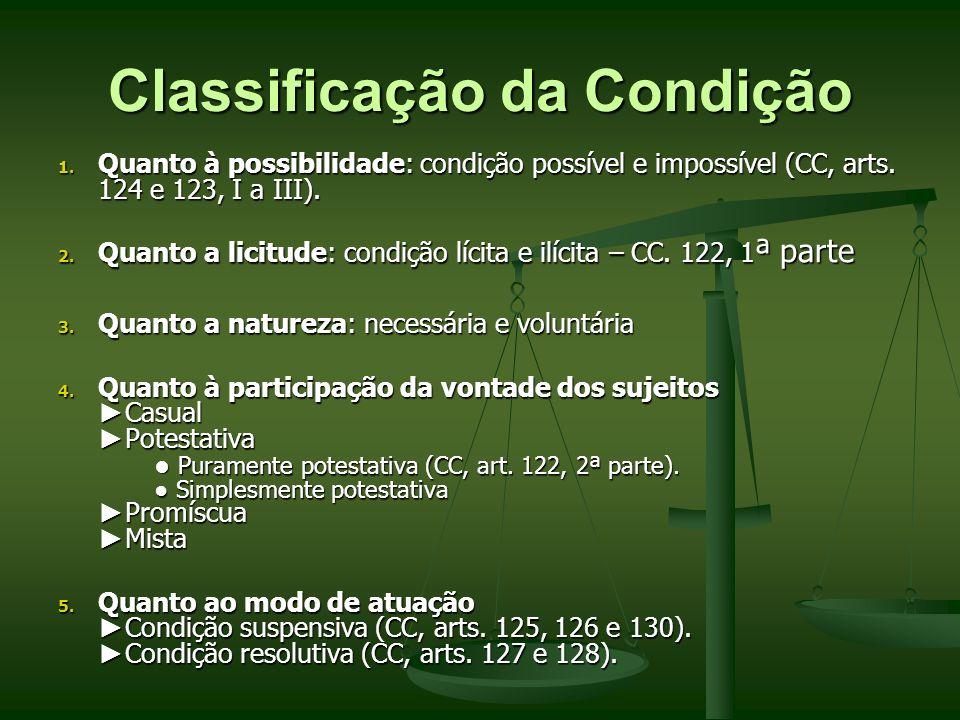 Classificação da Condição