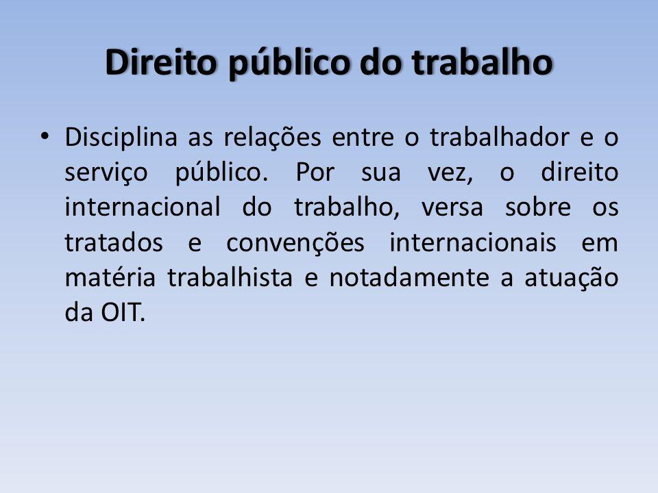 Direito público do trabalho