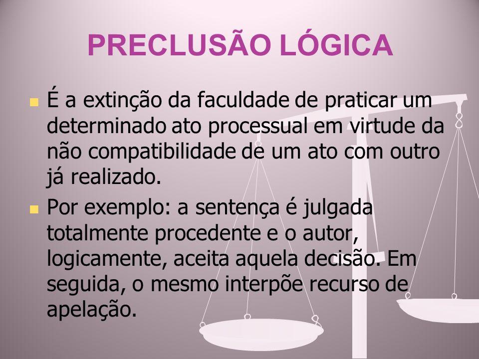 PRECLUSÃO LÓGICA