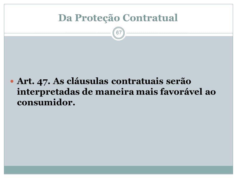 Da Proteção Contratual