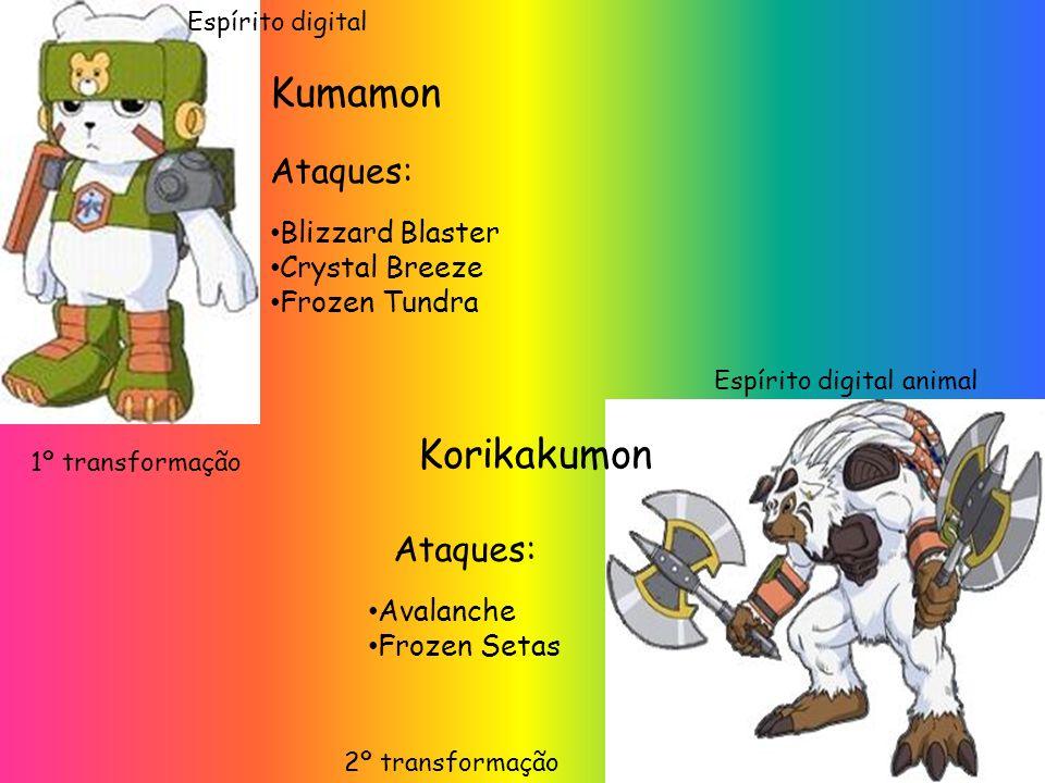 Kumamon Korikakumon Ataques: Ataques: Blizzard Blaster Crystal Breeze
