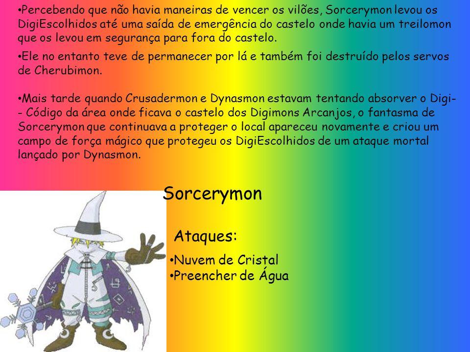Sorcerymon Ataques: Nuvem de Cristal Preencher de Água