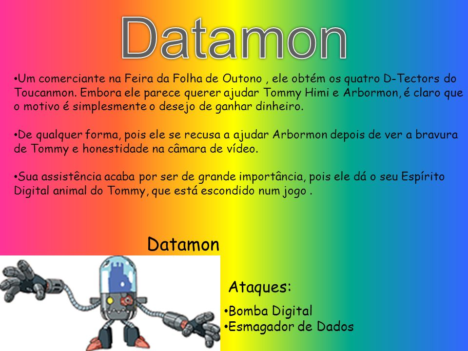 Datamon Datamon Ataques: Bomba Digital Esmagador de Dados