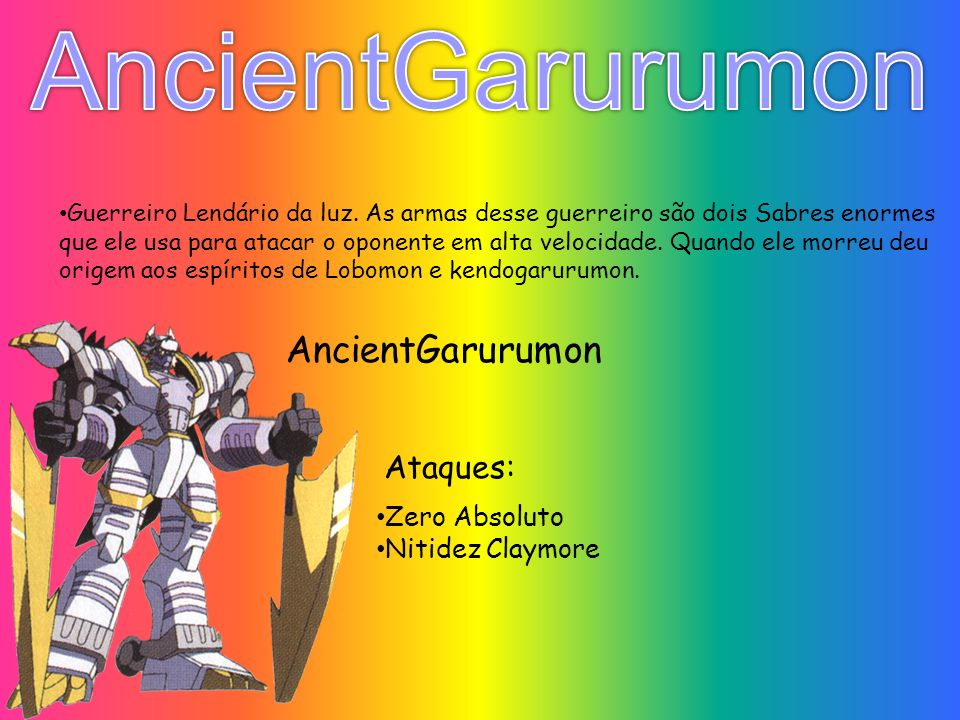 AncientGarurumon AncientGarurumon Ataques: Zero Absoluto